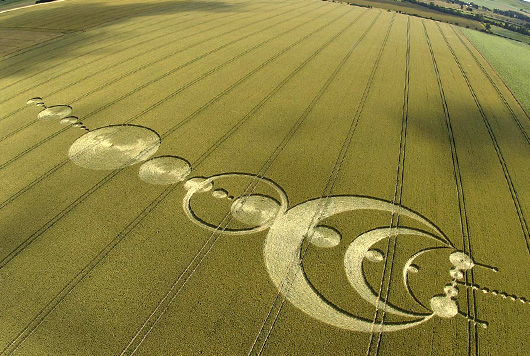 Crop Circle Mystery Solved: Drunken/Unemployed Particle Physicists (1/6)