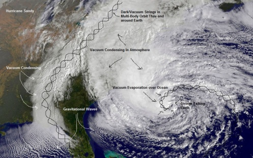 NASA handout image of Hurricane Sandy