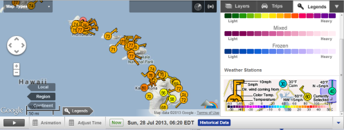 7-28-13 Hawaii Wind Weather