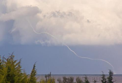 long stringy waterspout