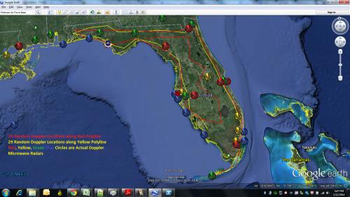 Florida Doppler and Random Coastal Polyline