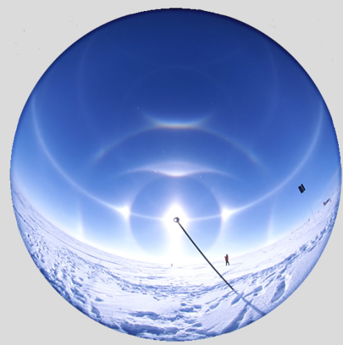 Ice Halos at Poles