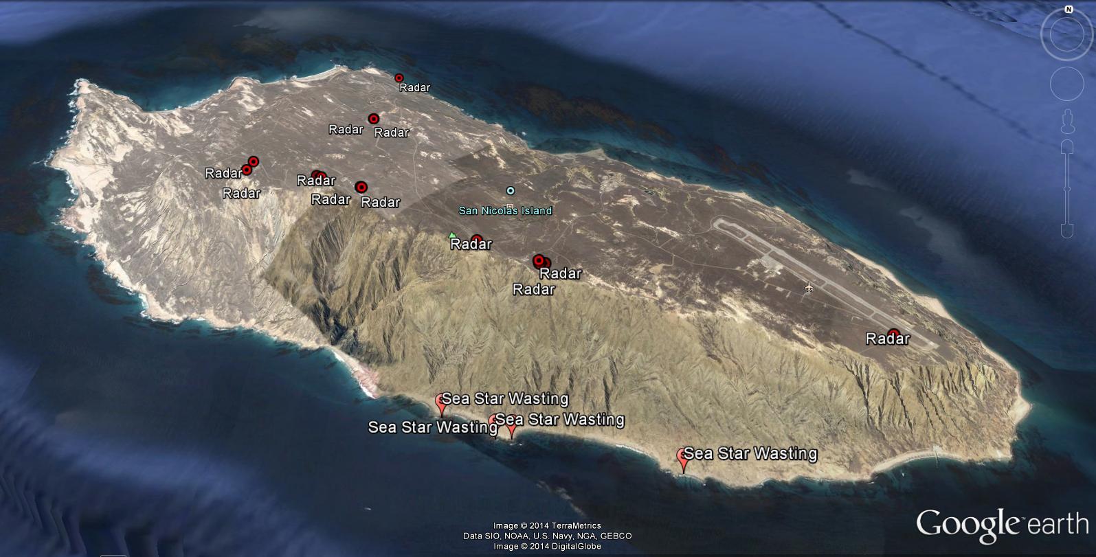 Pin San Nicolas Island Topographic Map