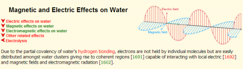 water magnetic effects