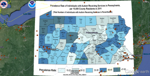 2011 Penn Autism Prevalence Rate