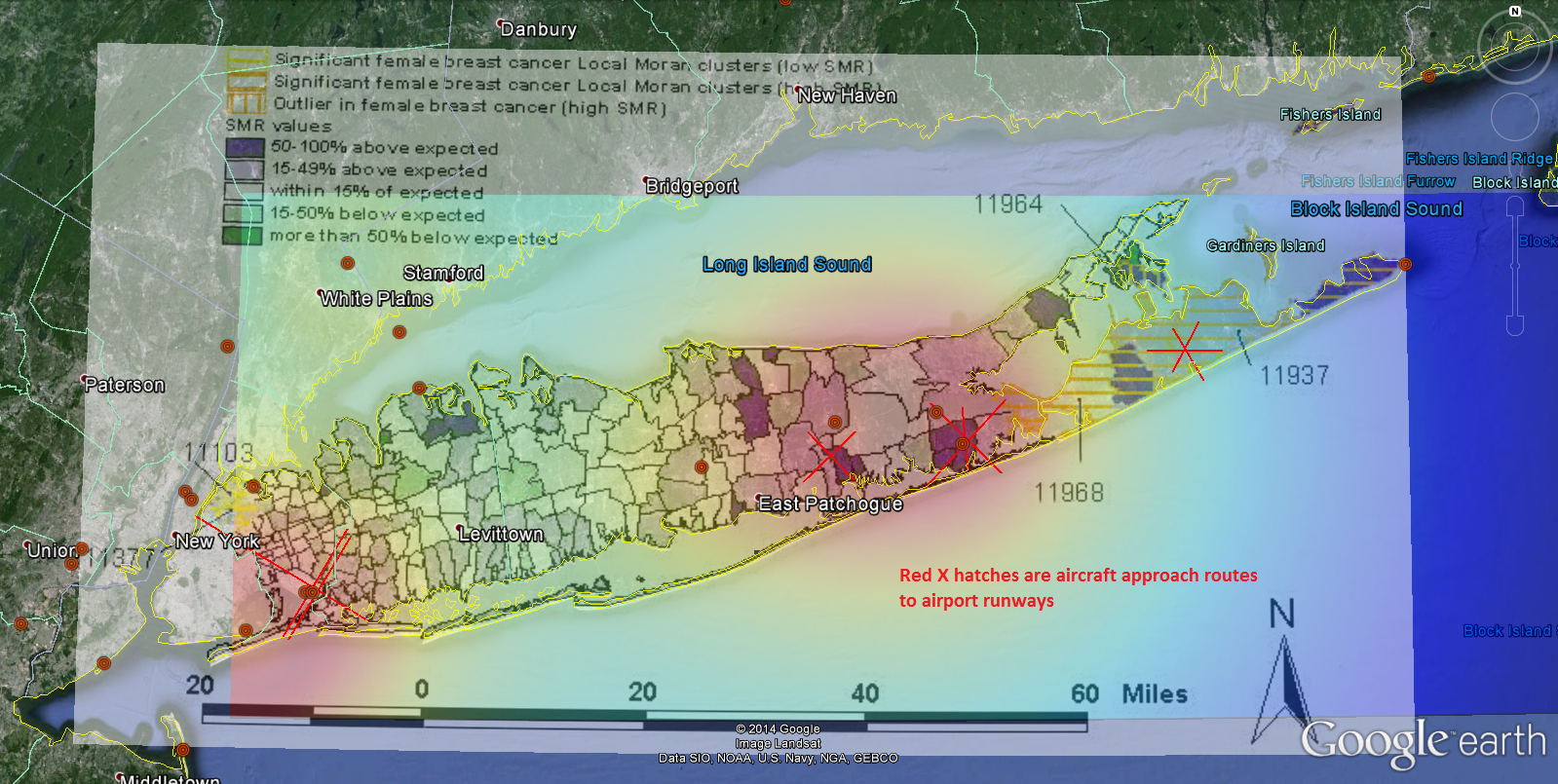 Long Island Cancer Clusters Revisited Dark Matters a Lot