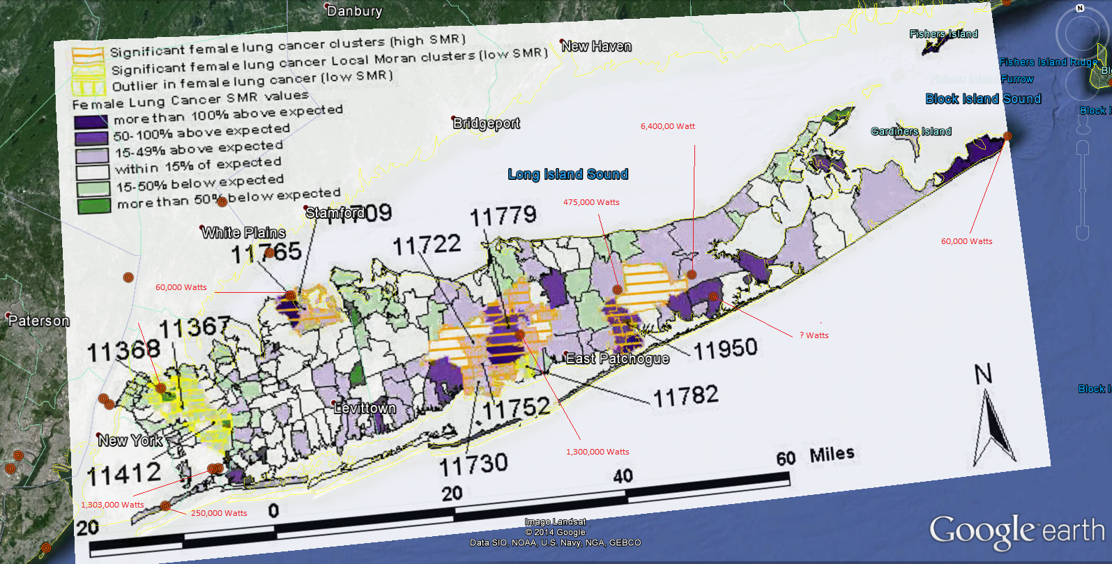 Long Island Breast Cancer Map