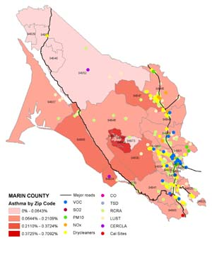 MArin map_asthma & Heart Problems