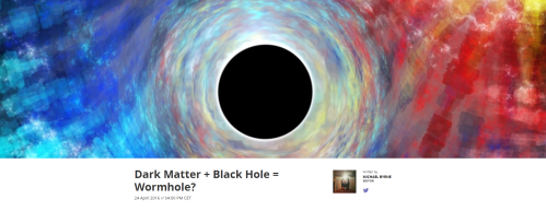 Dark Matter Black Hole Wormhole