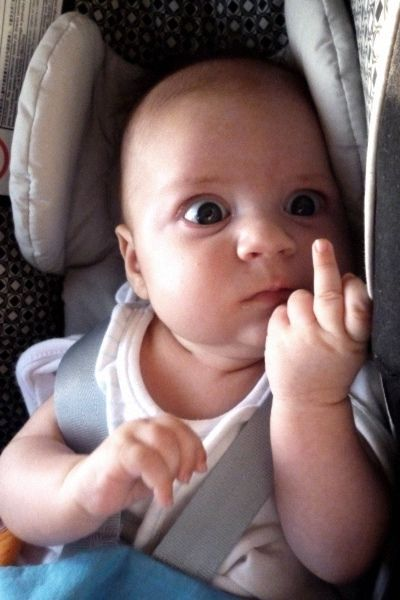 baby-middle-finger