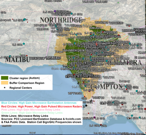 North LA autism cluster